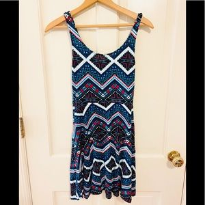 NWOT Indian/Aztec Express fit and flare dress